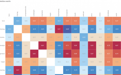 Creative visualisations in Qlik Sense: Correlation matrix